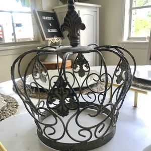 Large Crown Vintage Rustic Shabby Chic Decor